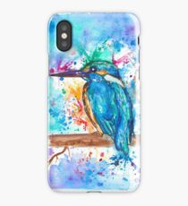 KINGFISHER - Watercolor bird painting - artwork by Jonny2may Tshirts + More! iPhone Case/Skin