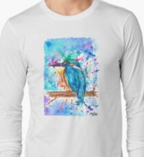 KINGFISHER - Watercolor bird painting - artwork by Jonny2may Tshirts + More! T-Shirt