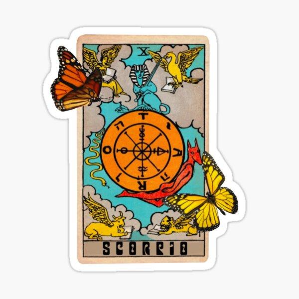 Scorpio Tarot card zodiac sign   Sticker