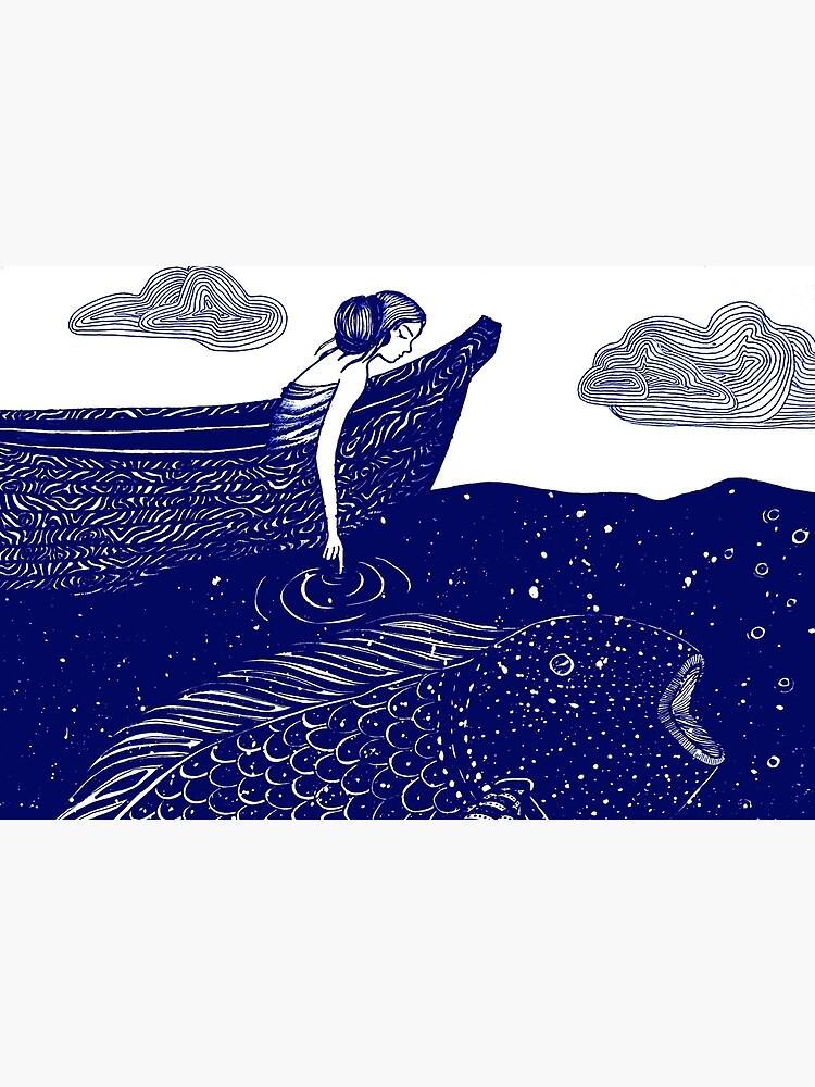The Blue Shimmering Sea Lights by ECMazur