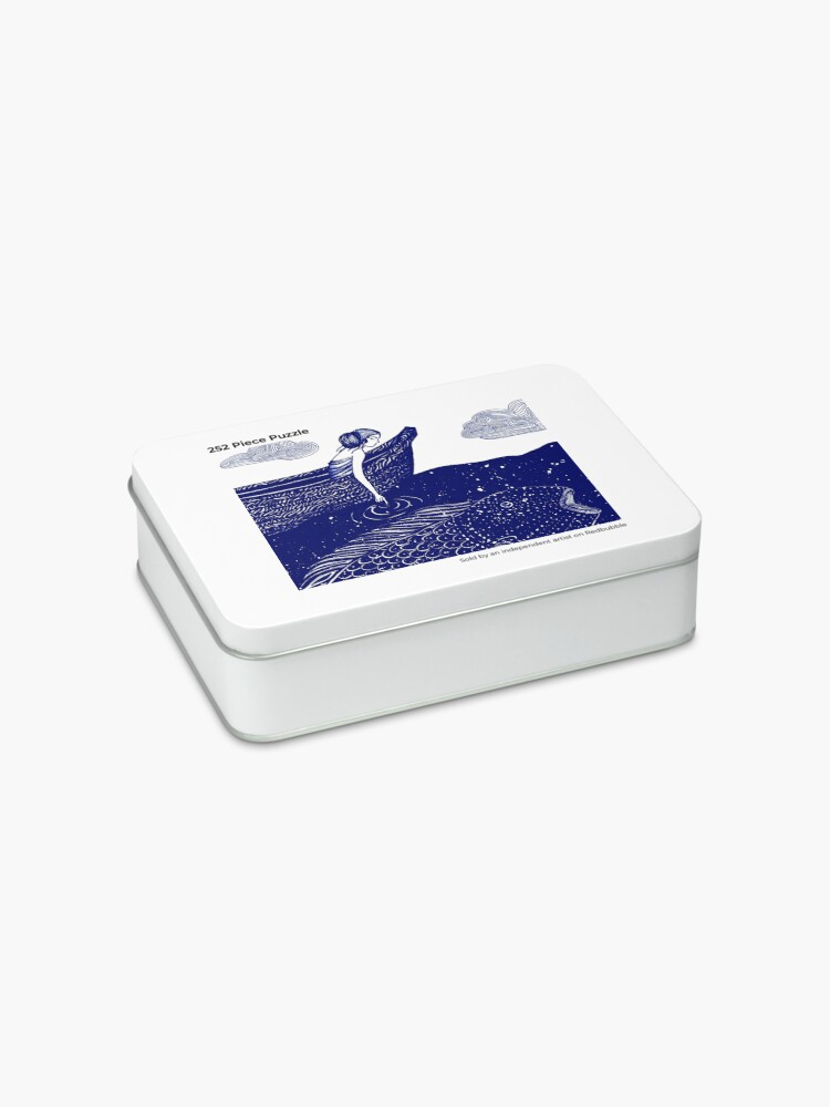 Alternate view of The Blue Shimmering Sea Lights Jigsaw Puzzle