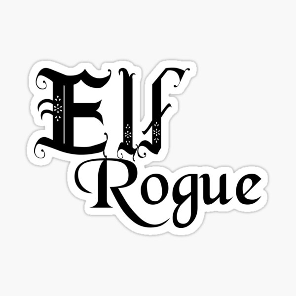 Elf Rogue Sticker