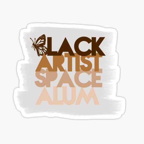 Black Artist Space Alum Brown Sticker