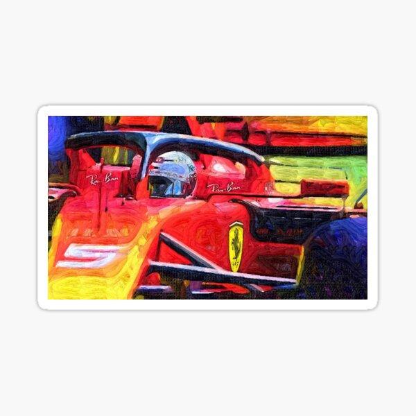 Sebastian Vettel Hand Painting Sticker