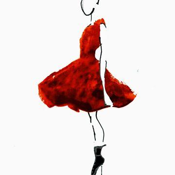 Petite Robe Rouge by imaginedxandrew