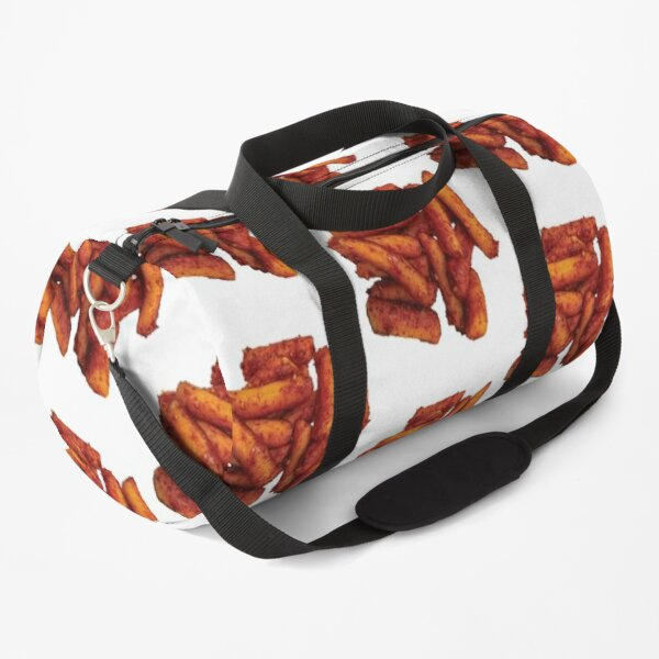 Oil Tteokbokki - Korean Spicy Rice Cake - White background Duffle Bag