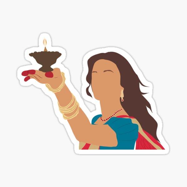 cartoon of paro from devdas Sticker