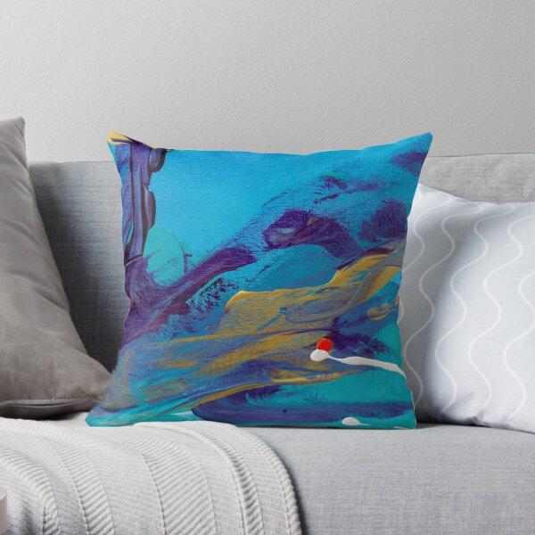 Mediterranean Cove Throw Pillow