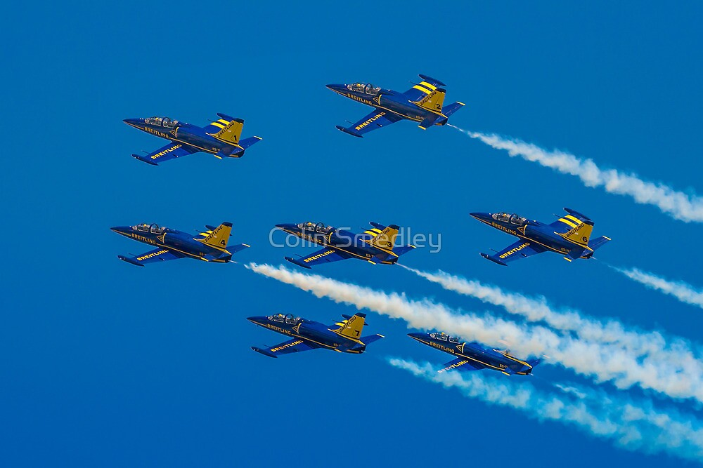 Team Breitling L-39C 7-ship Formation by Colin Smedley