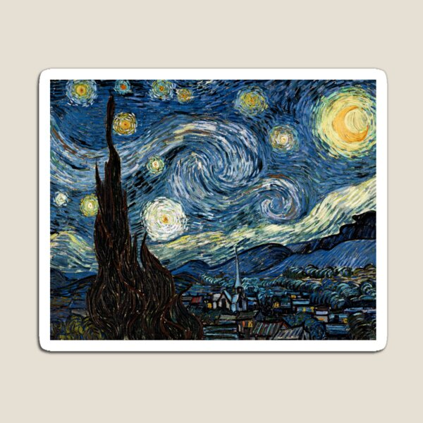 Starry Night - Vincent Van Gogh - Gift Ideas for Art Lovers Magnet