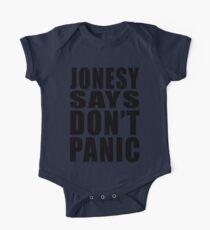 Jonesy says Don't Panic One Piece - Short Sleeve
