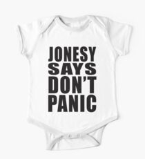 Jonesy says Don't Panic One Piece - Short Sleeve
