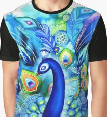 Peacock in Full Bloom Graphic T-Shirt