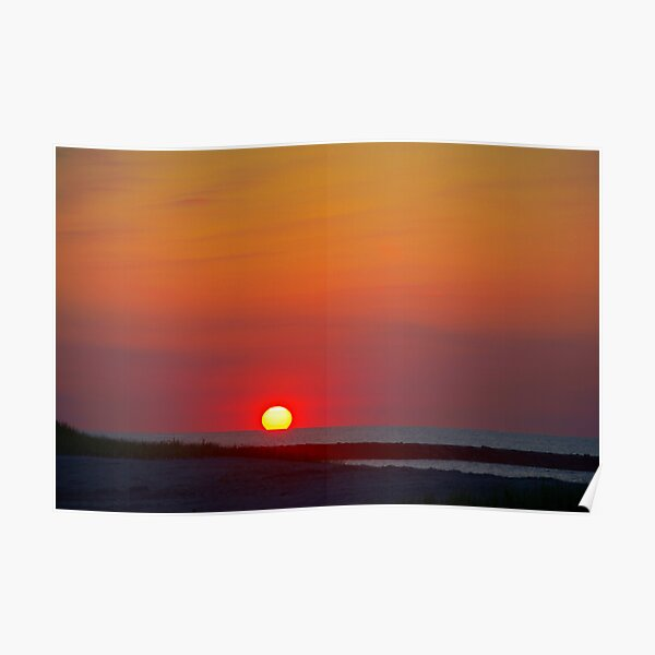 Boardwalk Sunrise Poster
