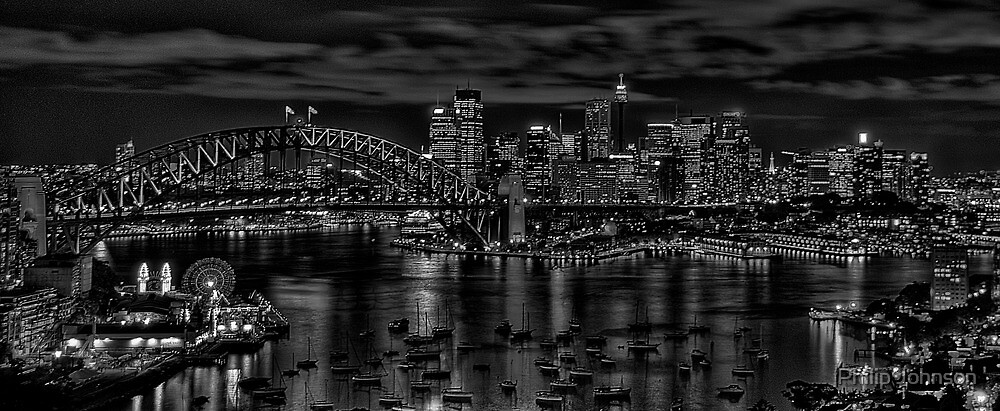 Sydney - A Study In Black & White - The HDR Experience by Philip Johnson