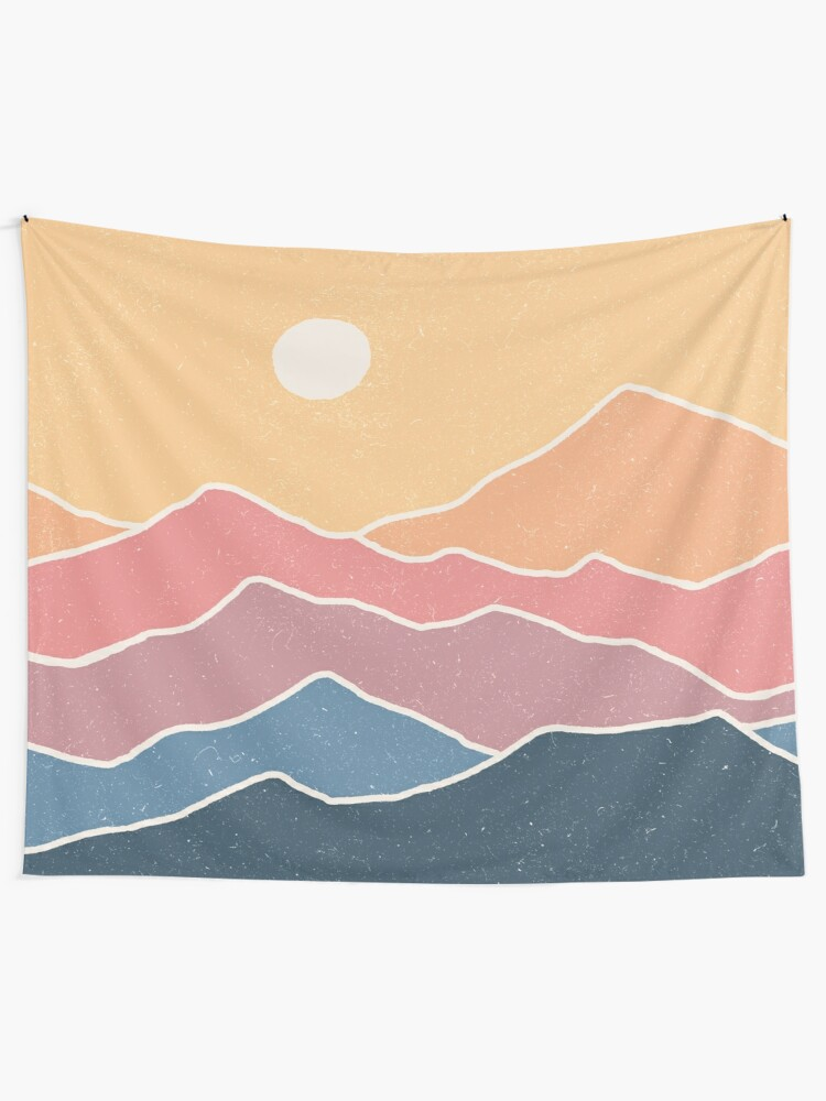 Alternate view of Range of Color Tapestry