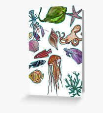 under the sea (for lucy) Greeting Card