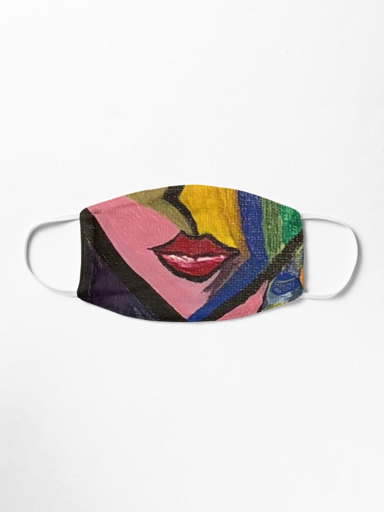 Alternate view of cubist woman Mask