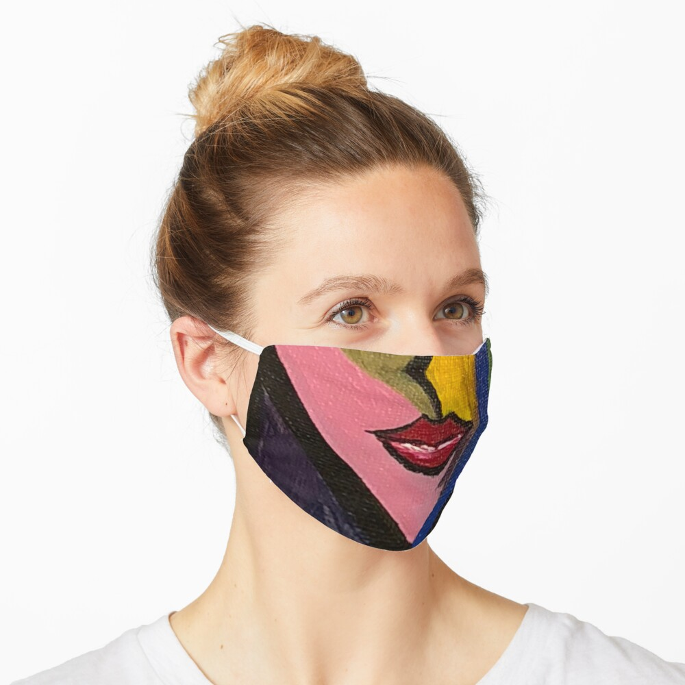 cubist woman Mask