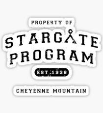 Property of Stargate Program Sticker