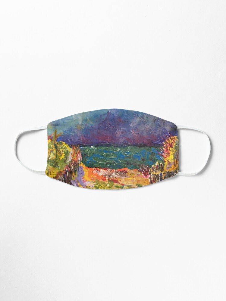 Alternate view of fauvist beach Mask