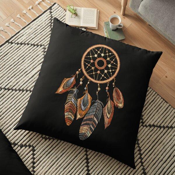 Vintage dream catcher Floor Pillow