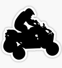 atv silhouette Sticker