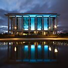 National Library Canberra Australia Moody Blue by Kym Bradley
