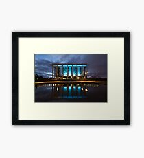 National Library Canberra Australia Moody Blue Framed Print
