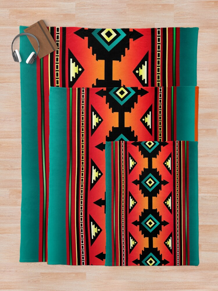 Alternate view of Canyon | Navajo  Throw Blanket
