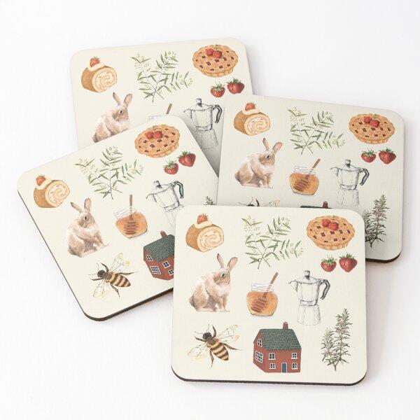 Cottagecore Kitchen Coasters (Set of 4)