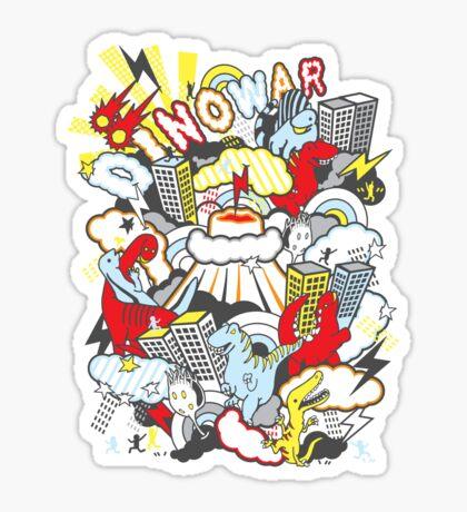 Dino War Sticker