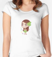 MELE-PRINCESS OF THE JUNGLE Women's Fitted Scoop T-Shirt