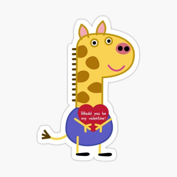 la jirafa está enamorada Pegatina