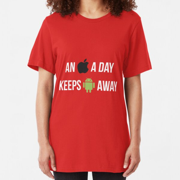 An Apple a day... Slim Fit T-Shirt