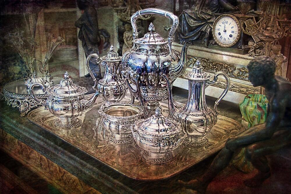 Antique Tiffany Sterling Silver Coffee Tea set by Gunter Nezhoda