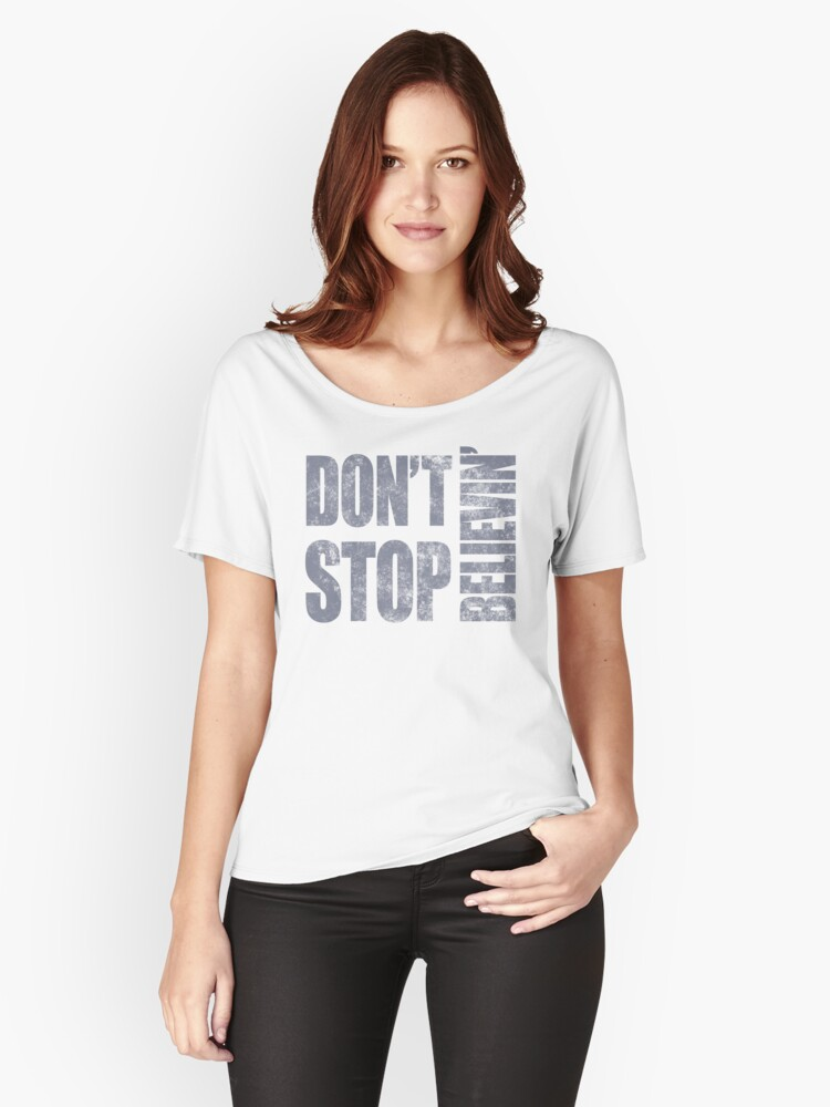 '80's Journey Don't Stop Believin'' Women's Relaxed Fit T-Shirt by  thepixelgarden