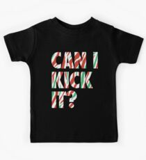 Camiseta para niños ¿Puedo patearlo? (blanco)