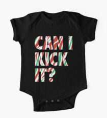 Can I Kick It? (white) Baby Body Kurzarm