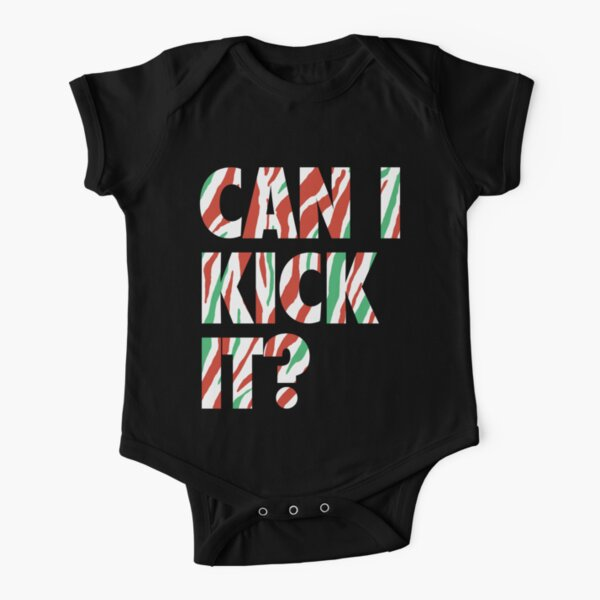 Can I Kick It? (white) Short Sleeve Baby One-Piece