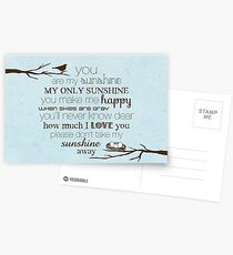 You Are My Sunshine – Nest – 2:3 – Blue  Postcards
