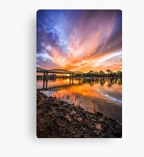 By the Riverside Canvas Print