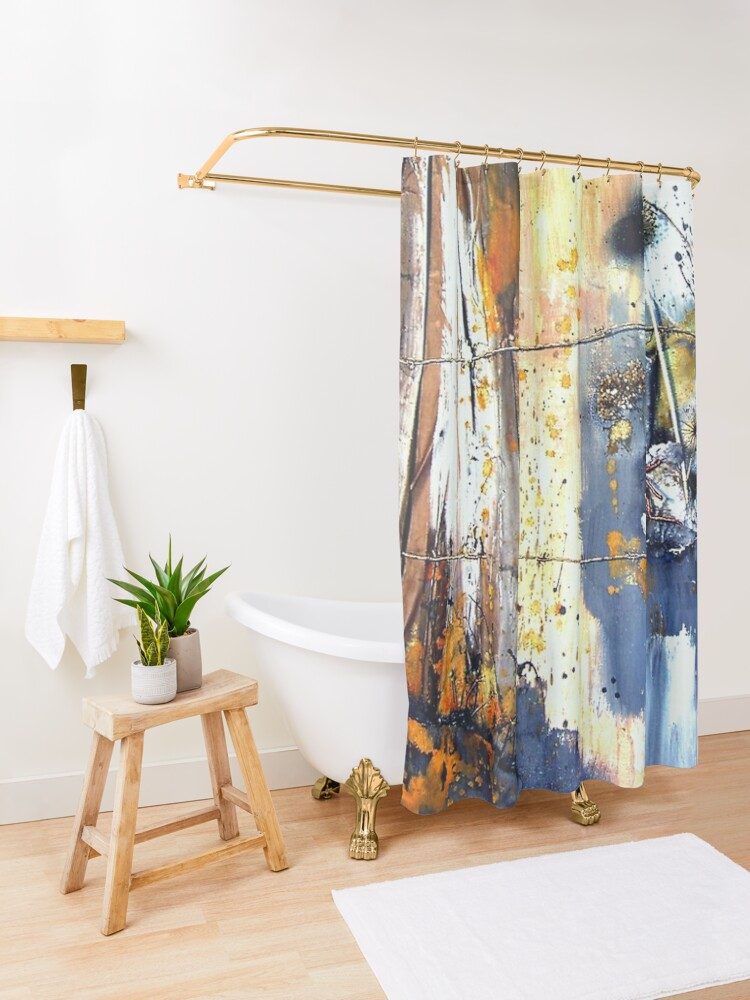 Alternate view of Finding a Way out Shower Curtain