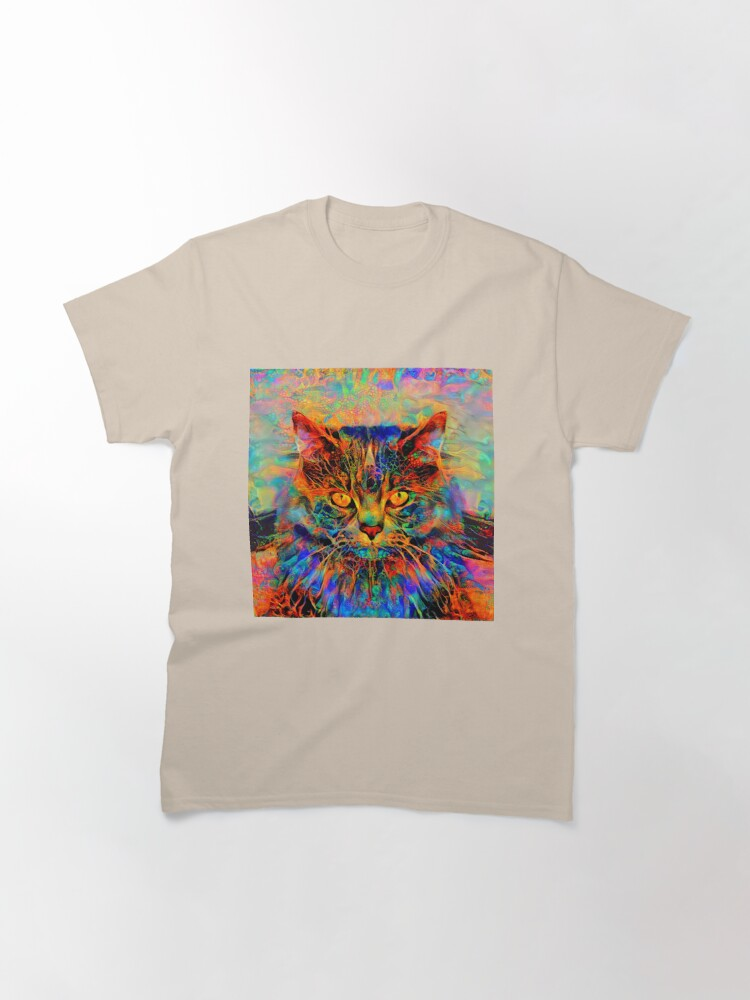 Alternate view of Abstractions of abstract abstraction of cat Classic T-Shirt
