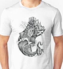 Koi in Graphite Tee and Stickers Unisex T-Shirt