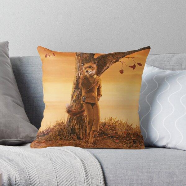 Fantastic Mr Fox Throw Pillow