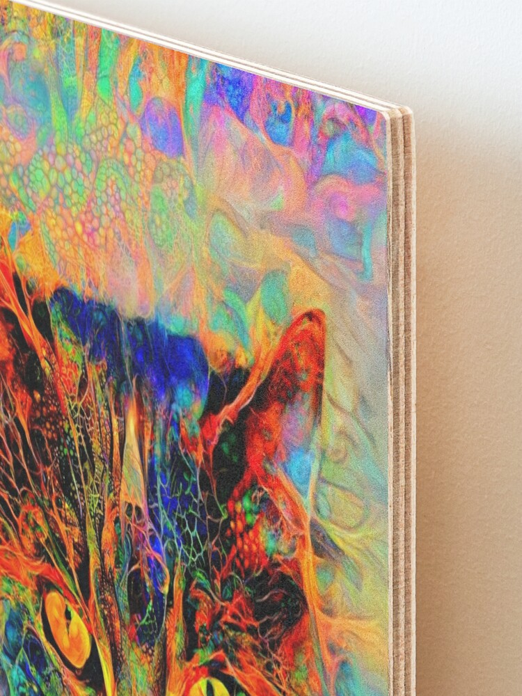 Alternate view of Abstractions of abstract abstraction of cat Mounted Print