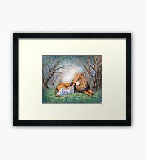 Aslan and Me Framed Print