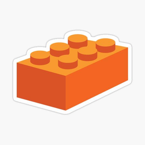 Building blocks that lock - Orange & Teal Sticker