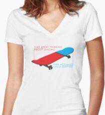 Skateboard infographic Women's Fitted V-Neck T-Shirt